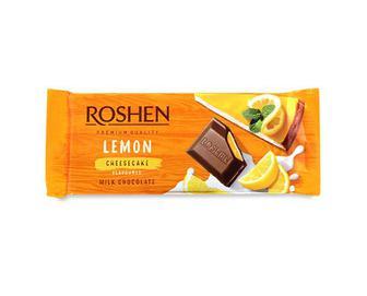 Шоколад молочний Roshen смак «Лимонний чізкейк» 90г