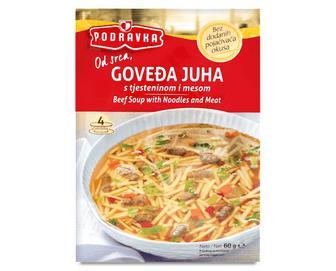 Суп Podravka, з телятини з м'ясом і вермішеллю, 60г