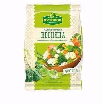 Суміш овочева Хуторок Весняна Хуторок 400г