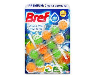 Блок туалетний Bref «Зміна аромату» «Соковитий персик-яблуко» 3*50г