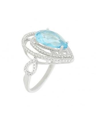 Кольцо серебрянное с камнем