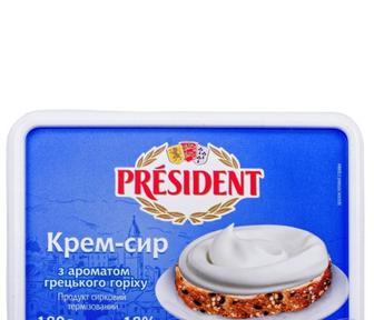 Крем-сир President Класичний продукт сирковий, 24.5%, 180г