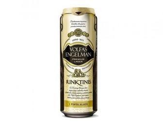 Пиво Volfas Engelman Rinktinis светлое фильтрованное 5.2% 0.568 л