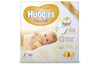 Підгузки Huggies Elite Soft 2 (4-7 кг) 80 шт./уп