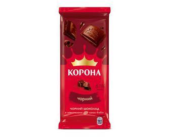 Шоколад Корона, без додатків чорний, 85 г