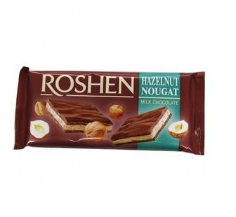Шоколад Молочний з нугою Рошен 90г