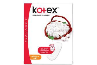 Прокладки щоденні Kotex Normal, 50+10 шт./уп