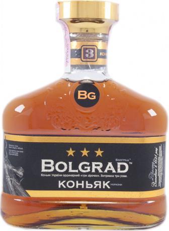 Коньяк 3 зірки Болград 0,5 л