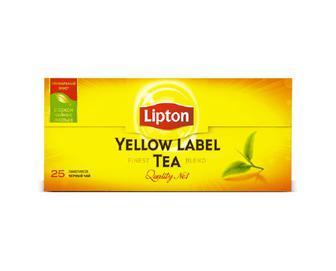 Чай чорний байховий Lipton Yellow Label, 25×2 г