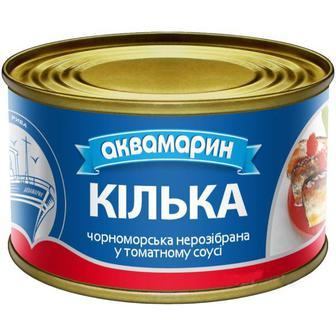 Кілька чорноморська в томатному соусі 230г Аквамарин
