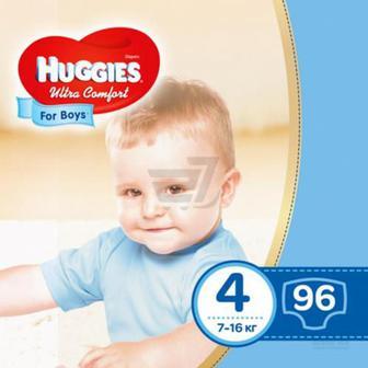 Підгузки Huggies Ultra Comfort 4 7-16 кг 96 шт. для хлопчика