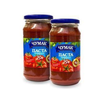 Паста томатна 25% скло, Чумак, 350 г