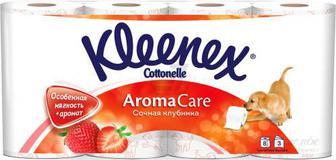 Туалетний папір Kleenex Aroma Care Соковита полуниця 8 шт.