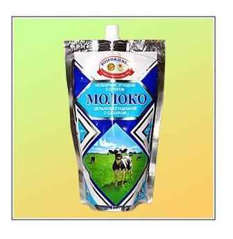 Молоко цельное сгущенное с сахаром. Жирность: 8,5%