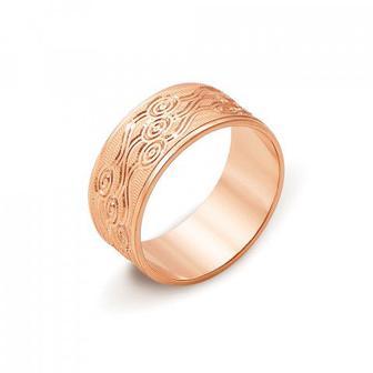 Обручальное кольцо с алмазной гранью. Артикул 10101/2