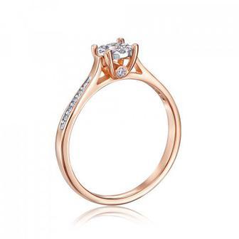 Золотое кольцо с бриллиантами. Артикул 52506/01/1/8223