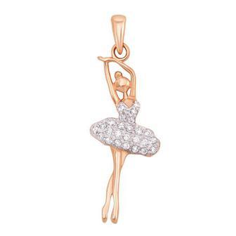 Золотая подвеска «Балерина». Артикул 31229