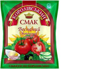 Майонезний соус «Весняний» 40%, Королівський Смак, 380г
