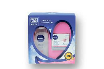 Набір подарунковий Make-Up Expert Nivea (Міцелярна вода, тонізуюча + Крем-флюїд 2в1, зволожуючий   Nivea 200 мл+50 мл