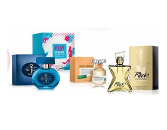 Жіноча парфумерія Antonio Banderas, United Colors of benetton, Shakira