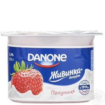 Йогурт Живинка 1.5 % Danone 115 г