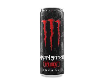 Напій енергетичний Monster Energy Fury безалкогольний сильногазований, 355мл