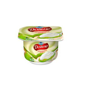Йогурт Дольче Ківі двошаровий, вершки 3,2% 115г