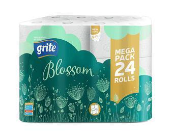 Папір туалетний Grite Blossom, 24шт/уп