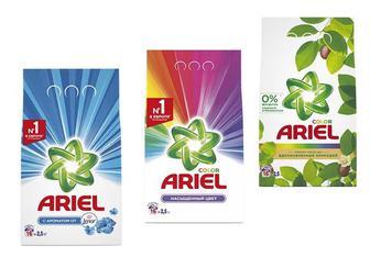 Засіб миючий синтетичний Touch of Lenor Fresh/ Color для всіх типів пральних машин/ Аромат масла Ши порошок автомат Ariel 2,5 кг