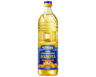 Олія соняшникова «Чумак» рафінована дезодорована, 0,9л