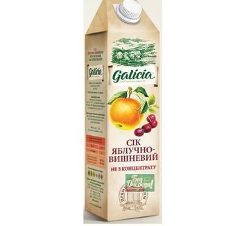 Скидка 22% ▷ Сік Яблучний, Яблучно-грушевий, Яблучно-морква, Galicia, TGA, 1 л