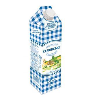 Молоко 2.5% Селянське  950г