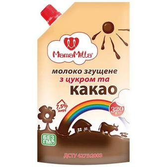 Молоко згущене MamaMilla з цукром та какао 7,5% 320г
