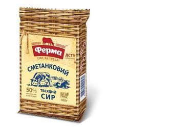 Сыр Сметанковый 50%, Ферма, 180 г