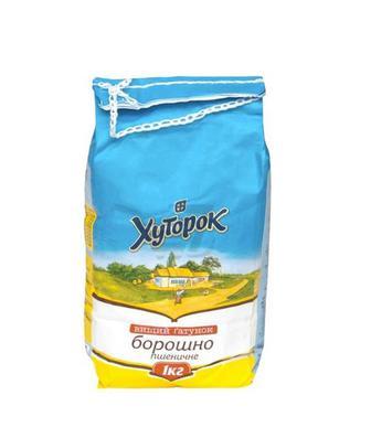 Борошно пшеничне Хуторок 1 кг