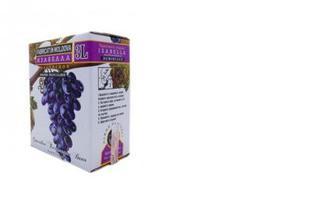 Вино красное сухое Саперави, Alianta Vin, 3л