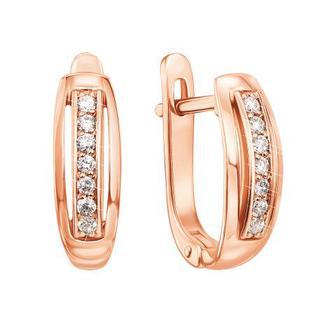 Золотые серьги с бриллиантами. Артикул 52755/1.25