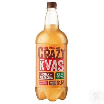 Квас Тарас Crazy Kvas зі смаком апельсина 1,5л