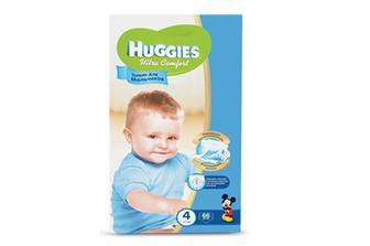 Підгузки  Huggies Ultra Comfort для хлопчиків 4 (8–14 кг) 66 шт./уп