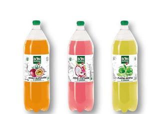 Напій зі смаком Агава-Маракуйя/ Лічі-Пітайя/ Лайм-М'ята, соковмісний, сильногазований Бон Буассон 2 л