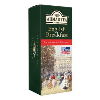 Чай чорний English Breakfast або Earl Grey Ahmad 25 пакетиків