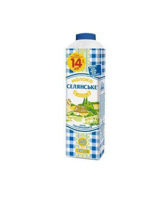 Молоко пастеризоване 2,5% Селянське 950 г