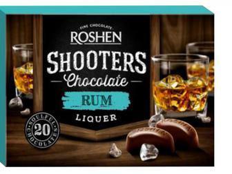 Цукерки Shooters з ромовим лікером 150г Рошен