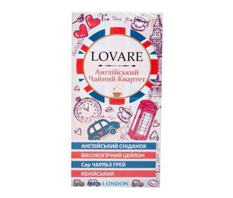 Чай Англійський чайний квартет Lovare 24 пакетика