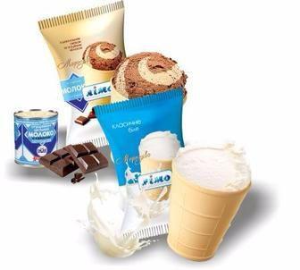 МОРОЗИВО класичне біле, 60 г з шоколадним смаком та згущеним молоком, 65 г ЛІМО