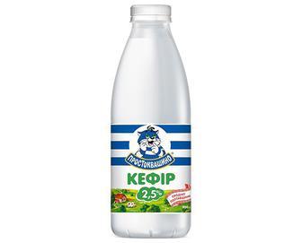 Кефір «Простоквашино» 2,5%, пляшка, 900г