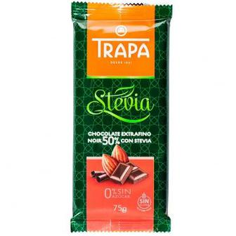 Шоколад черный 50% со стевией Trapa Stevia