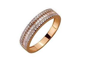 Золотое кольцо с фианитами Артикул 01-17408741