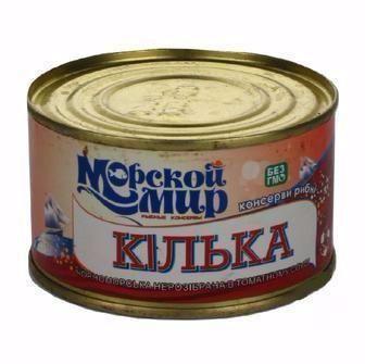 Кілька чорноморська обсмажена у томатному соусі  Морский світ 240 г