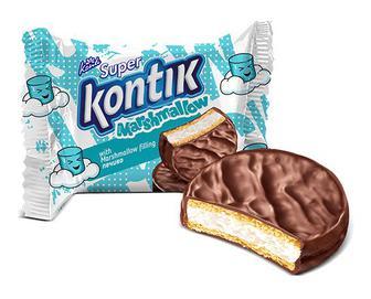 Печиво Konti Super Kontik з начинкою маршмеллоу, 30г